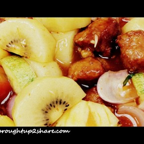 Sweet & Sour Pork with Zespri Kiwi (Zespri 咕嚕肉)