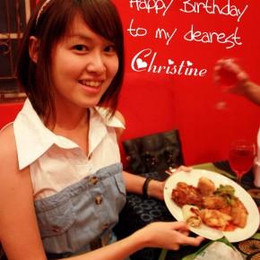 To my Dearest Christine: You're 24!