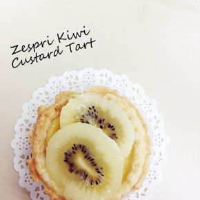 C&C Cooks: Zespri Sun Gold Kiwi Custard Tart
