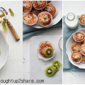 Zespri® Green & Gold Kiwifruit Yoghurt Muffins