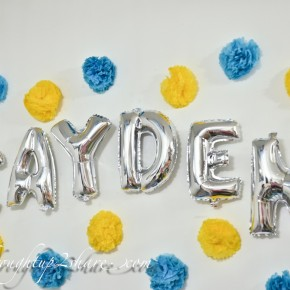 Baby Cayden's Fullmoon Party with Rainbow Dreams Balloons